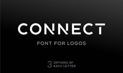 connect font for logos-www.mockuphill.com