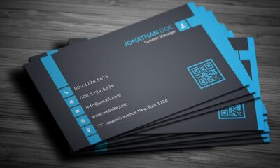 Visiting Card Printing PSD Free-www.mockuphill.com
